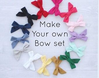 choose your own mini hair bow set, hair bows, baby hair bows, baby hair clips, hair bows for toddler, girls hair bow, mini hair bow, bows