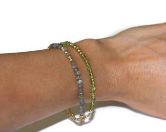 Skinny bracelet Raw Labradorite bar bracelet mother gift from daughter Minimalist bracelet Sister in law gift Delicate raw stone bracelet