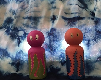Octopuses peg dolls
