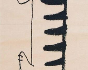 Japanese Tenugui Towel Cotton Fabric, Kawaii Cat, MIKEY SKETCH, Lisa Larson, Hand Dyed Fabric, Animal Print Wall Hanging Decor, Scarf, L30