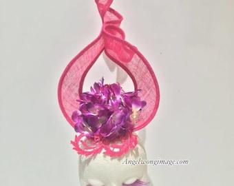 pink wedding fascinator pink ascot hats