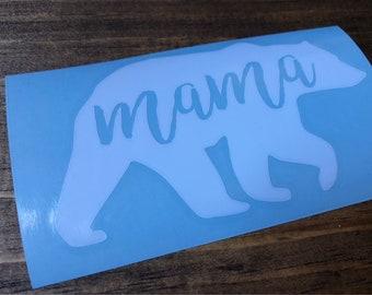 Bear Decals, Mama Decals, Vinyl Decals