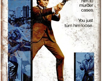 """Clint Eastwood Dirty Harry Harry Callahan 10"""" x 7"""" Reproduction Metal Sign I02"""