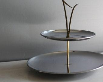 Mid century modern Kromex serving tray