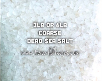 DEAD SEA Salt, Coarse Grain, Remineralizing, Natural Salt from Israel, Two Wild Hares