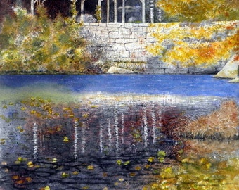 Arboretum - Watercolor print