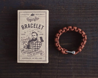 Handmade Paracord Lumberland Bracelet/Armband Mens/Womens Chocolate Brown