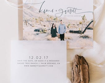 The Kimi - Photo + Vellum Save the Date