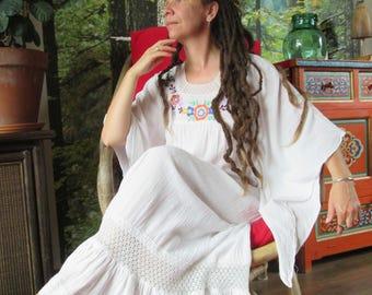 vintage 1970,s hippie boho dress Flower Power