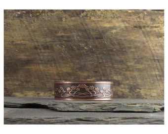 Gorgeous Art Nouveau Flower Copper Cuff Bracelet F-3/4-2103