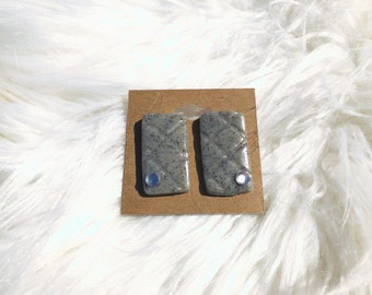 Granite Clay Rectangle Earrings!