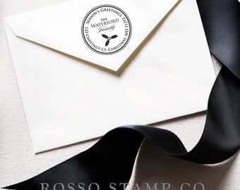 Christmas Address Stamp - Holly Return Address Stamp - Christmas Stamp - Holiday Return Address Stamp - Personalized Address Stamps