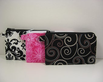 Coin Purse, Mini Glam Pouch, Credit Card Holder, Gift Card Holder, Zipper Pouch, Purse Organizer