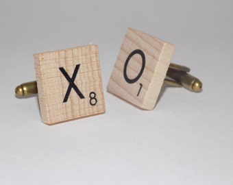 Scrabble Tile Cuff Links - Scrabble Cufflinks