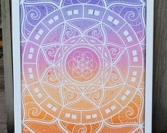 Sirius meditation mandala 50x60 cm