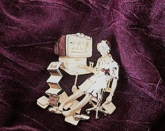 Vintage TGIF Brooch--Thank Goodness Its Friday