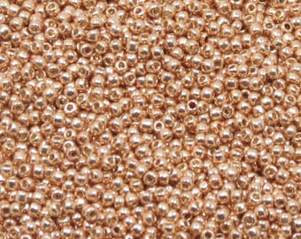 11/0 TOHO SEED BEAD Permanent Finish Galvanized Rose Gold - PF551-Japanese Seed Beads-10 grams