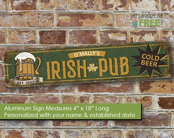 Man Cave Signs Melbourne : Personalized distressed look aluminum street sign metal tin