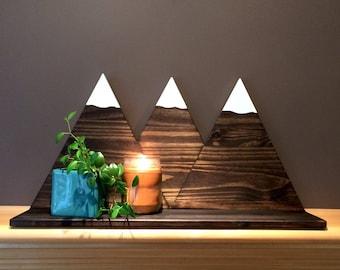 Wooden Mountain Shelf