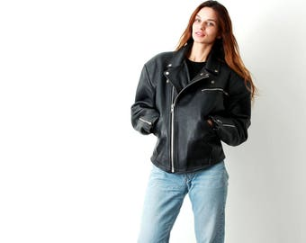 Vintage Biker Men Jacket / 80s Motorcycle Jacket / Rockabilly Jacket  / Man Motorcycle Jacket / Man Moto Jacket / Size L