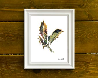 Dried Leaves Acrylic Painting Wall Decor