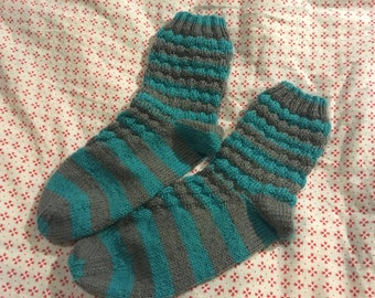 Knitted socks, wool socks, hand knitted, size 36/37