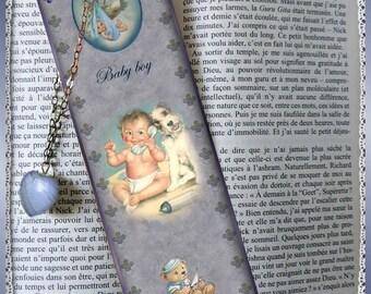 """Laminated bookmarks """"Baby boy"""""""