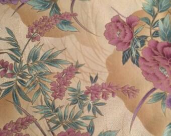Hoffman Kimono Flowers Cotton Fabric Piece