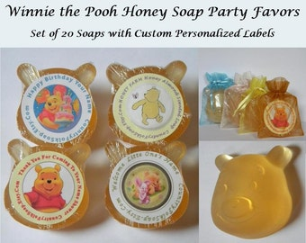 Winnie The Pooh Baby Shower Favors - Winnie The Pooh Birthday Party Favors - Soap Favors - Personalized Favors