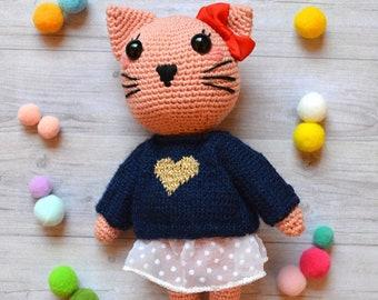 Katie the Kitty, amigurumi handmade