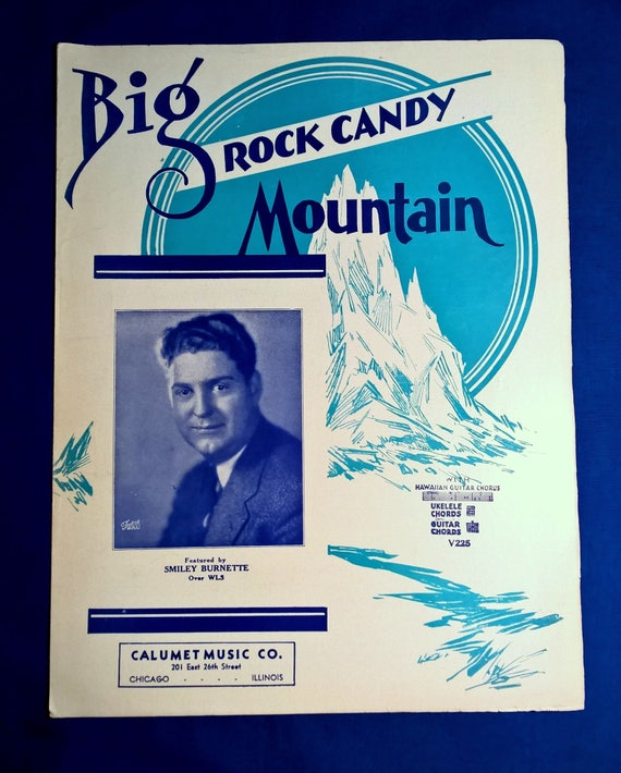 Vintage Score Music Cover Art Ephemera 1930\'s Big Rock