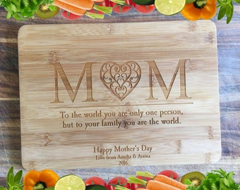A Board For Mum - Personalised Engraved Bamboo Chopping Board