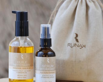 Duo face - Serum + cleansing cleansing oil - natural facial moisturizer - precious oils in the Amazon