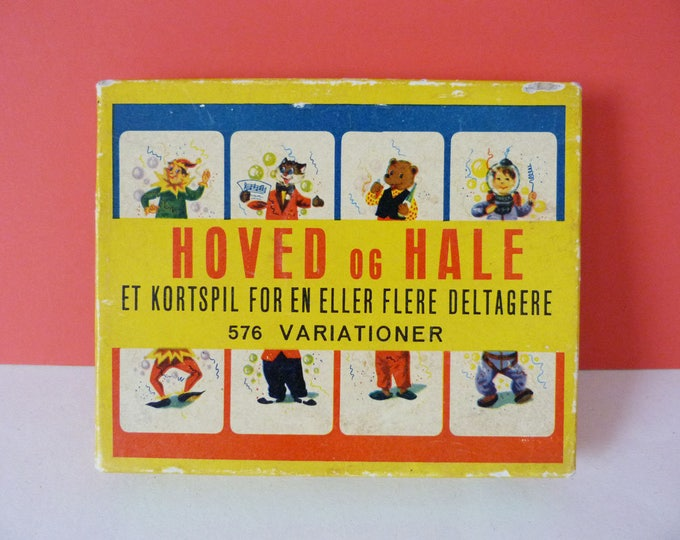1960s vintage miss match character game from Denmark Hoved og Hale