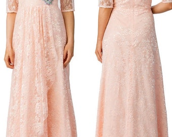 JAZMIN Mother Of the Bride Full Lace 3/4 Sleeves Gown