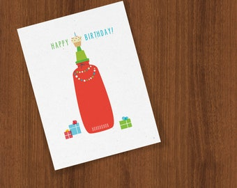 Happy Birthday Card for Your Favorite Hot Sauce Lover Folded Cards