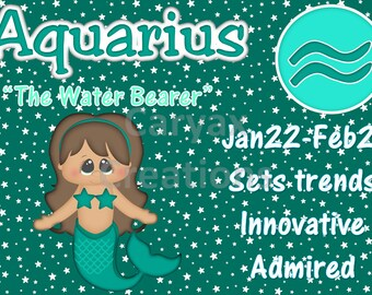Astrology Aquarius The water bearer digital download