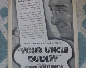 1935 Your Uncle Dudley 20th Century Fox Press Book