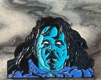 Nighttime Regan Soft Enamel Glow in the Dark Horror Pin