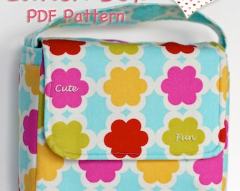 Lunch Box Sewing Pattern PDF Love Your Lunch Box