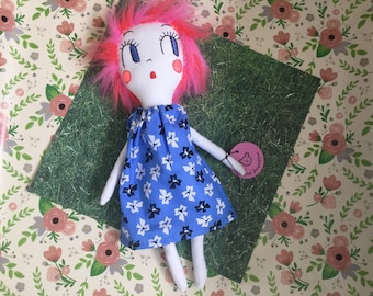 Whisper will keep all your secrets!  Vintage inspired rag doll.
