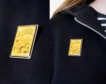 70s Hollyhocks pin by The Nature Company, Berkeley CA
