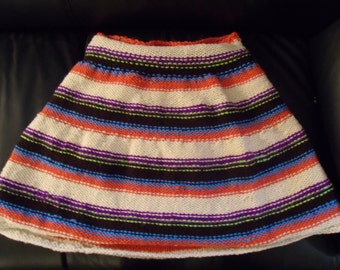 SALE  Skirt Pull On Stretchy Waist Hand Knit