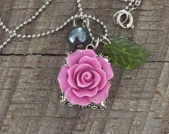 Floral charm Necklace
