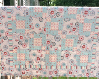 Clearance baby quilt, finished quilt, throw quilt, lap quilt