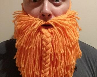 Knitted Beard. Knitted Viking Beard. Cosplay. Fancy Dress. Knitted Santa Beard. Handmade, Baby, Child, Teen, Adult sizes. Made to Order.