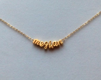 Personalized Name Necklace, Personalized Jewelry, Initials Personalized Necklace, Gold Letters, Script