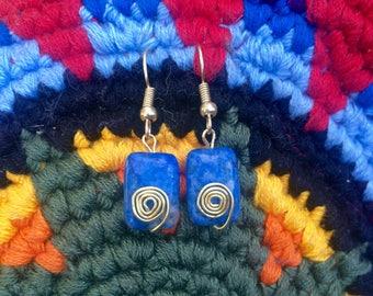 Lapis Lazuli dangle earings