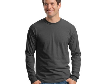 Men's Long Sleeve T-shirt - Custom Colors for Any Design in Our Shop - S M L XL 2x 3x 4x - LS Tee