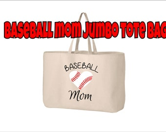 Baseball Mom Tote Bag, Baseball Tote, Baseball Mom Bag